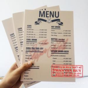In menu bồi formex tại Đà Nẵng 0935.665.433 In nhanh lấy 24h