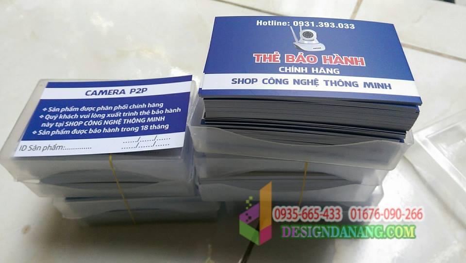Thẻ bảo hành CAMERA P2P