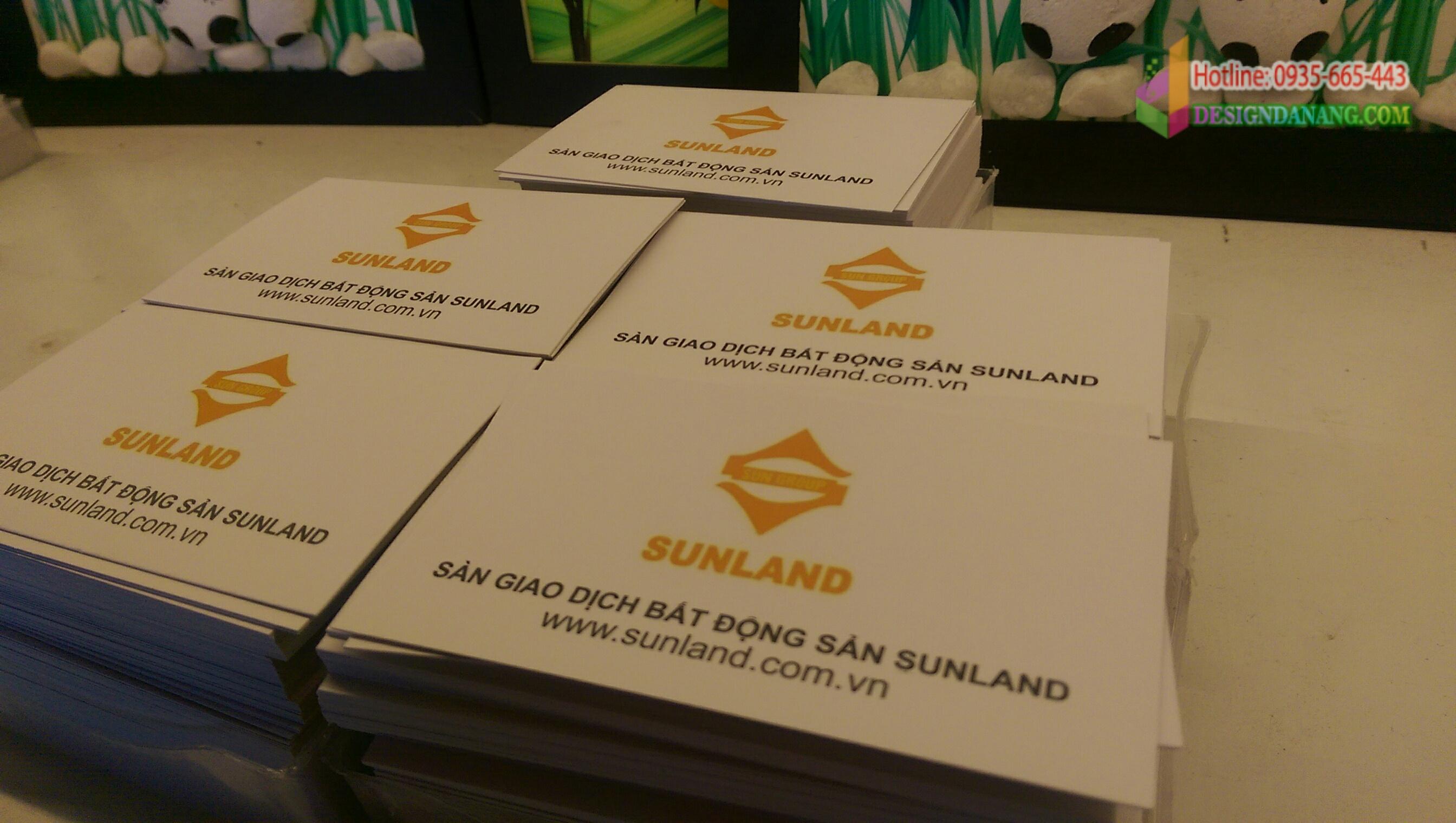 In name card bất động sản Sunland Đà Nẵng
