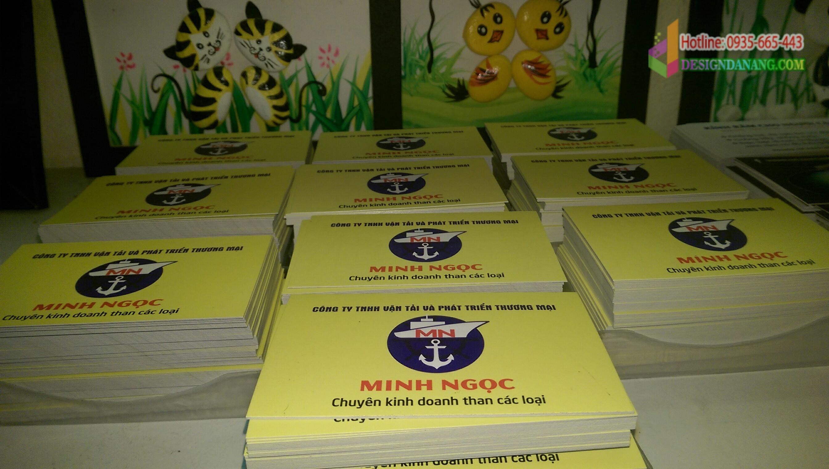 Card visit Công ty vận tải Minh Ngọc