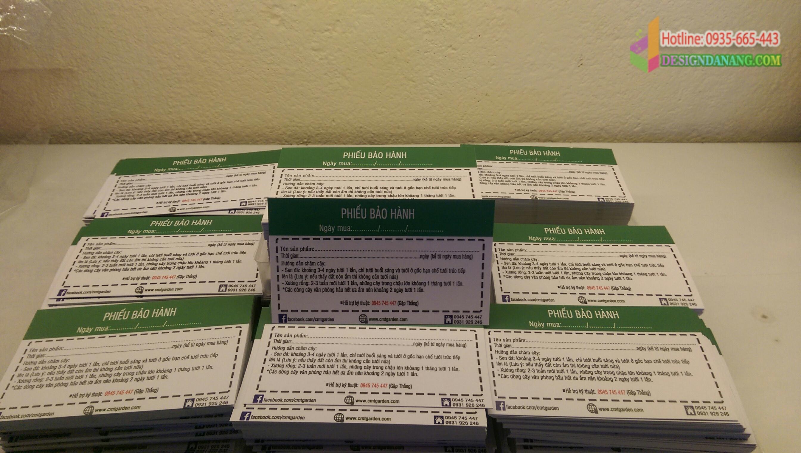 Danh thiếp card giá rẻ Vườn cây Đà Nẵng